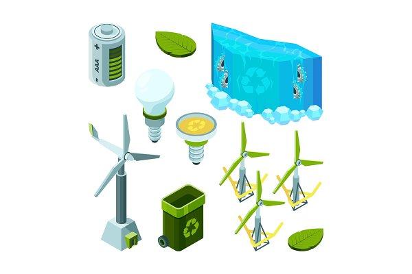 Green saving energy. Hydro power