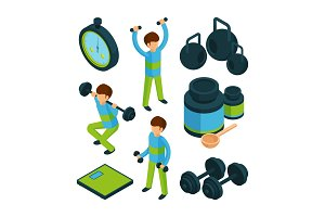 Sport exercise isometric. Equipment