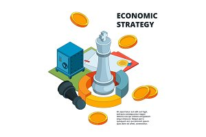 Business strategy concept. Corporate