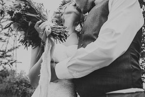 blackwhite photo young couple in the