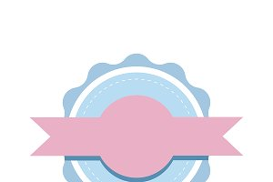 Pastel emblem badge design vector