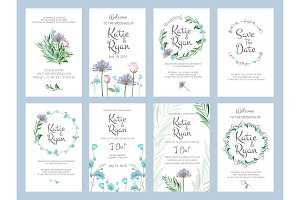 Invitation cards. Wedding floral
