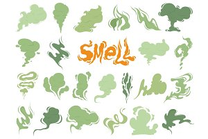Bad smell. Steam smoke clouds of
