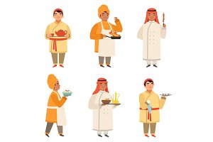 Traditional cook characters. Chef at