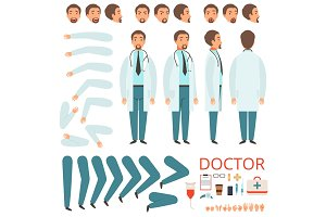 Male doctor animation. Hospital