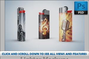Lighters Mockup - 9 psd mockups