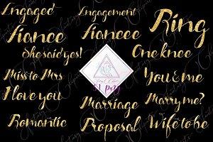 Engagement Word Art