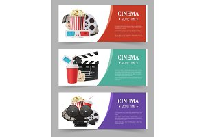 Cinema banners template. Movie flyer