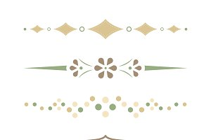 Pastel dividers collection vector