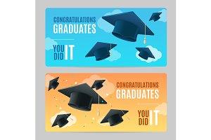 Congratulation Graduates Banner Set