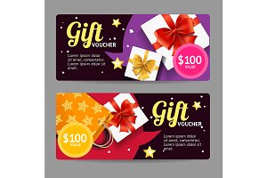 Gift Banner Horizontal Set