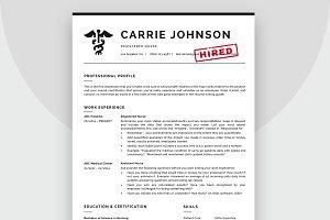 Nurse Resume Template / CV