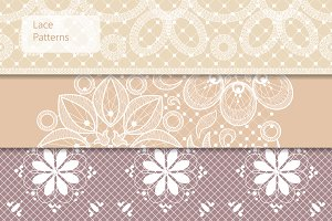 Seamless lace patterns