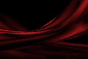 Red luxury fabric background with co