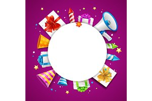 3d Party Placard Banner Card