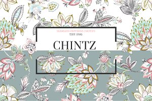 Chintz, Seamless Patterns & Motifs