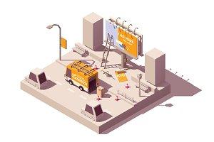 Vector isometric billboard fixing