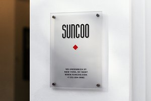 Entrance Logo Mockup Wall Mount Sign