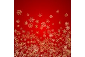 Christmas and New Year snowflakes
