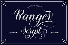 Ranger Script by  in Script Fonts