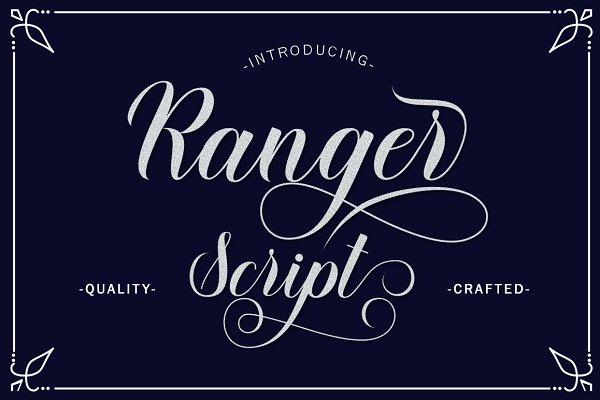 Script Fonts: Letter Fresh - Ranger Script