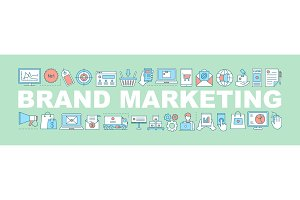 Brand marketing word concepts banner