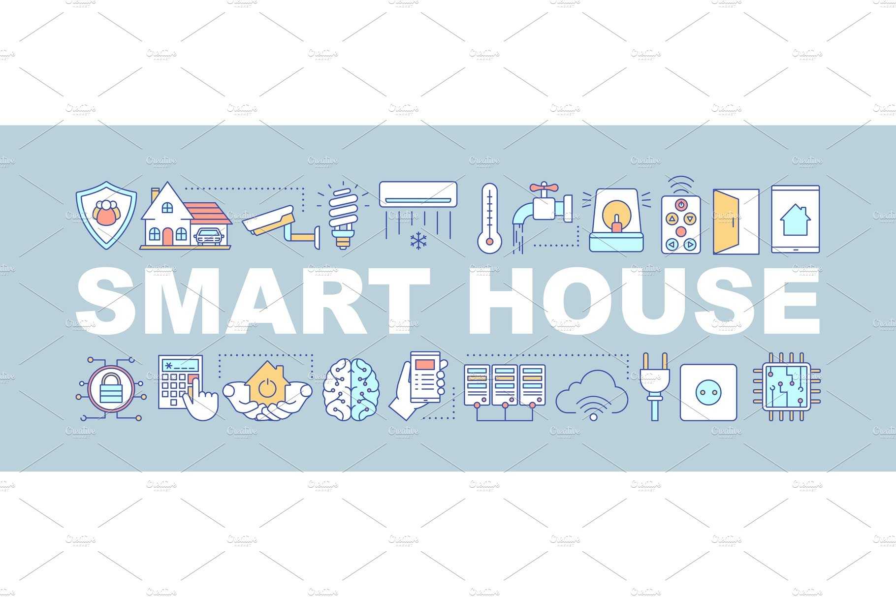 Smart House Word Concepts Banner