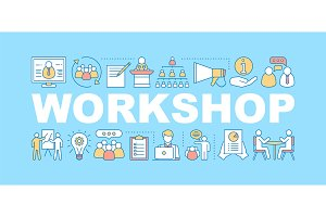 Business workshop concepts banner