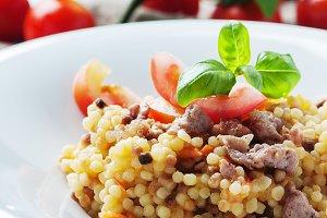 Sardinian pasta fregola