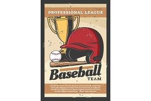 Baseball vector sport items