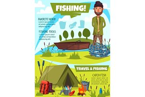 Fishing sport poster