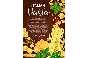 Italian pasta, pastry food