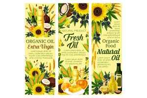 Natural oil and butter products