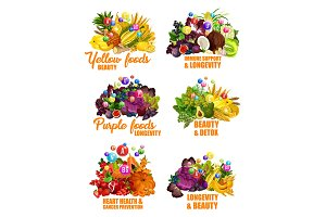 Fruits and vegetables, color diet