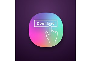 Download button click app icon