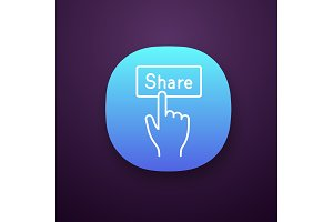 Share button app icon