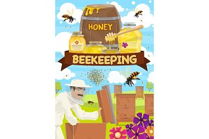 Beekeeping, honey and hives