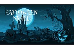 Cemetery or graveyard, Halloween