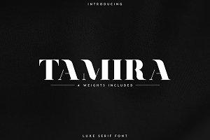 Tamira - Luxe Serif Typeface