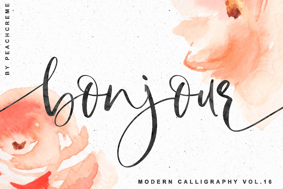 Bonjour Modern Calligraphy Script Fonts Creative Market