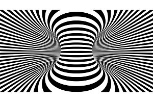 Optical illusion lines background