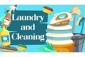 Laundry and cleaning housekeeping