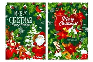 Christmas trees and Santa