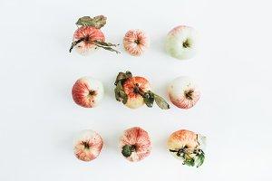 Flatlay of apples