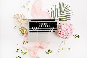Pink styled workspace