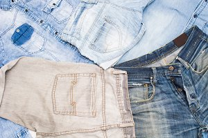denim clothes backogrund
