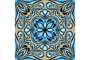 Portuguese azulejo ceramic tile.