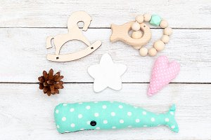 Wooden baby toys. DIY for kids