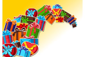 Celebration background with gift