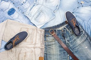 denim clothes background
